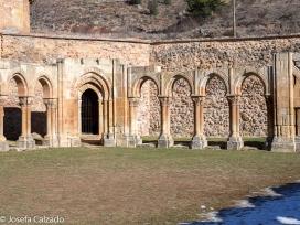 Detalle de los arcos del claustro