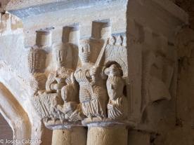 Detalle capitel San Juan de Duero