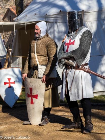 Caballero templario y su escudero