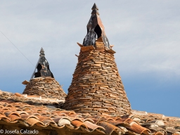 Detalle chimeneas cónicas