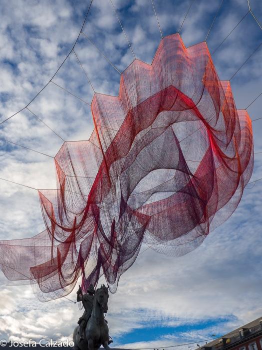 Escultura flotante Janet Echelman