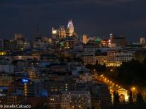 Madrid nocturno con el Edificio Telefónica