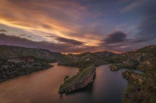 Atardecer desde el mirador del lago del Bolarque