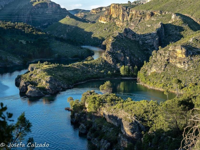 Detalle del meandro del río Tajo