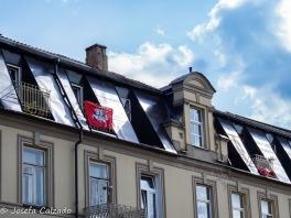 Detalle de la bandera de Uzupis
