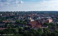 Vista de las principales iglesias de Vilnius
