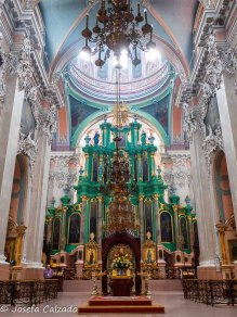 Interior de la iglesia del Espíritu Santo