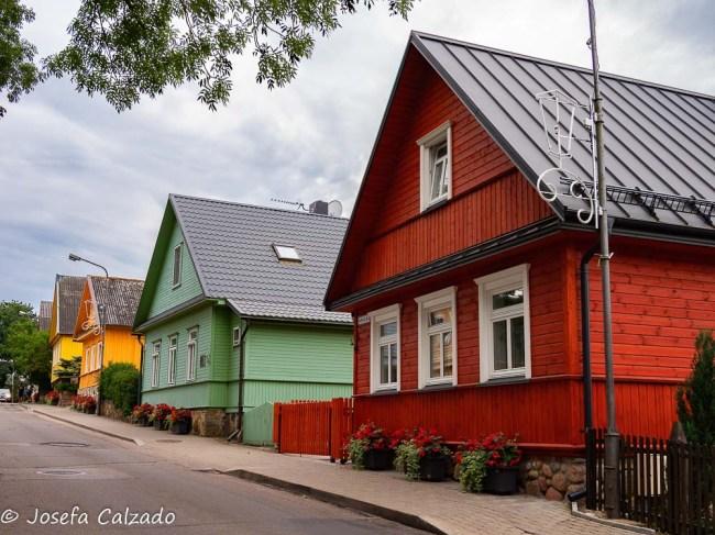 Calle Vytautas y casas caraítas