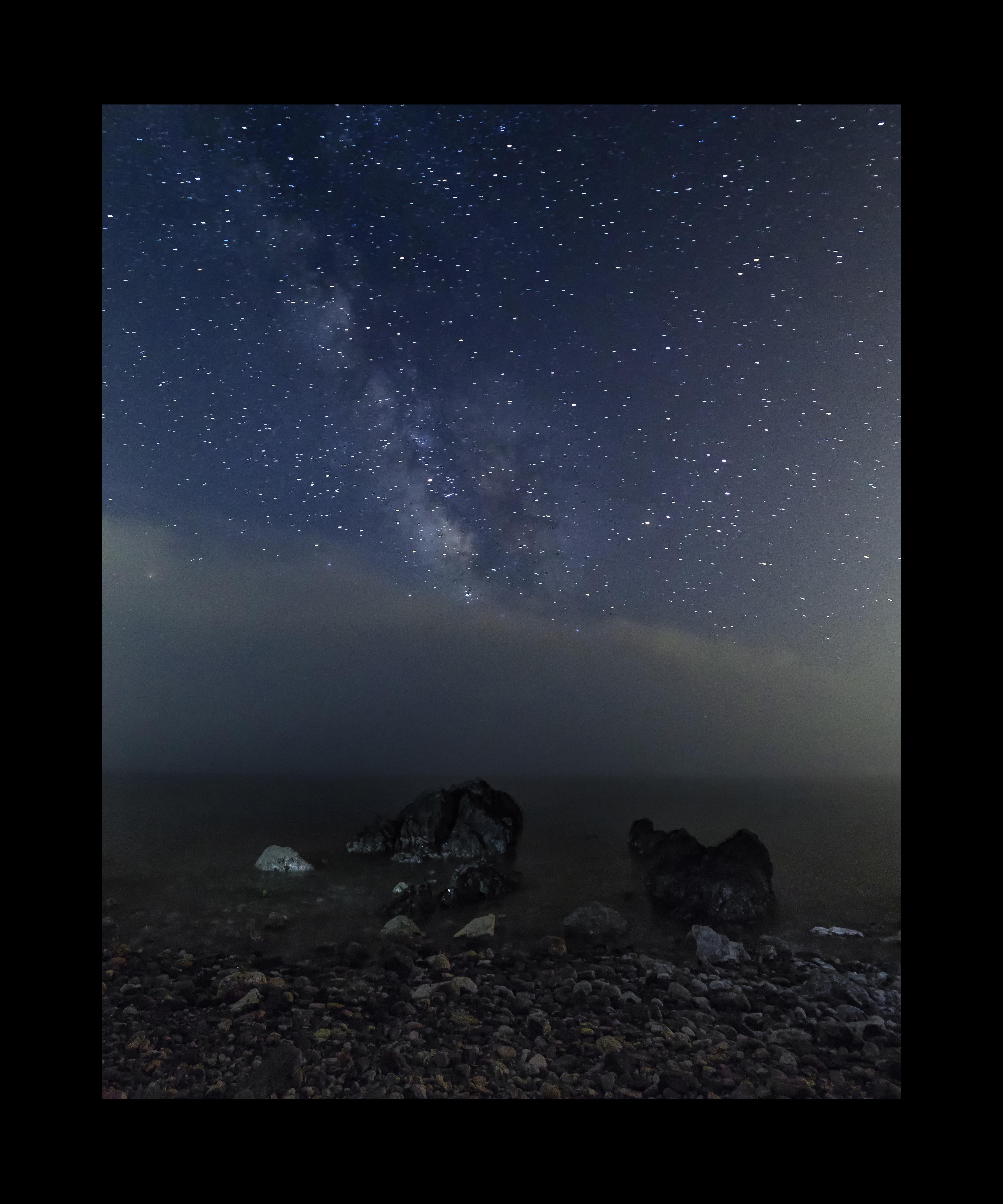 Vía Láctea en la Playa del Molino de Papel