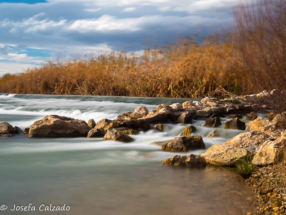 Atardecer en el rio Segura