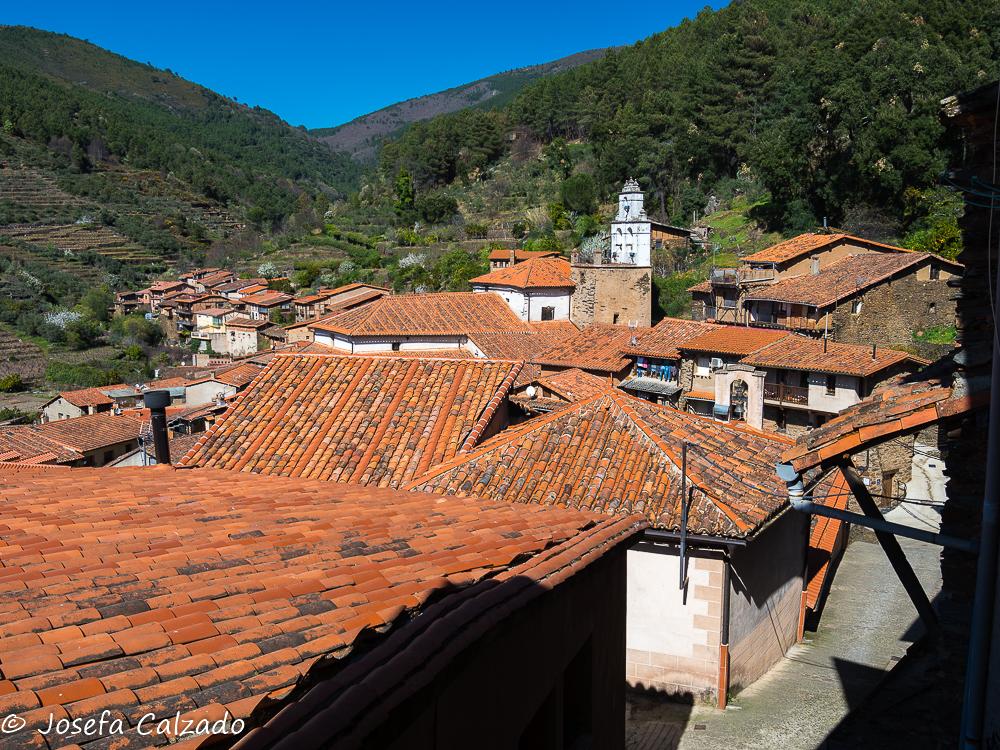 Vista de los tejados de Granadilla