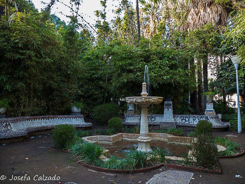 Dentro del Parque de la Alameda