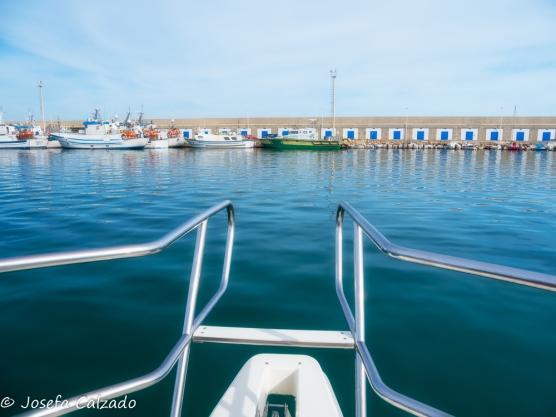 Salida del puerto de Carboneras