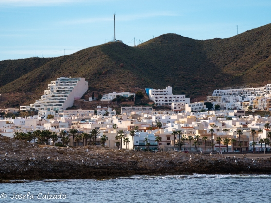 Vista del pueblo de Carboneras