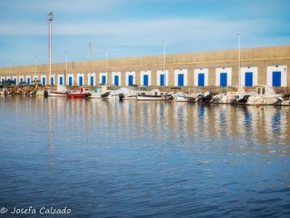 Entrada al puerto de Carboneras